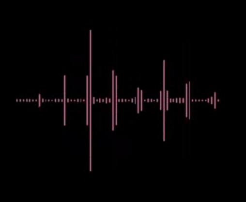 Animated pink audio wave lines