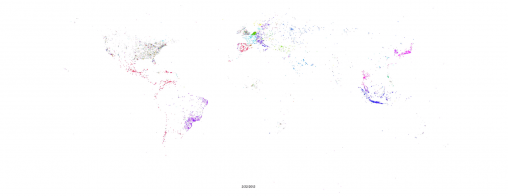 Visualization of language distribution of users on Twitter